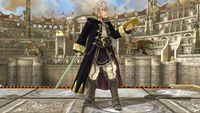 Robin's first idle pose in Super Smash Bros. for Wii U.