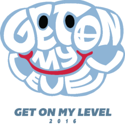 Official logo for Get On My Level 2016.