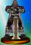 Ganondorf trophy from Super Smash Bros. Melee.