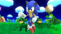 Sonic's second idle pose in Super Smash Bros. for Wii U.