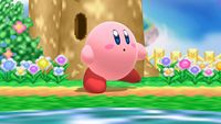 Kirby's first idle pose in Super Smash Bros. for Wii U.