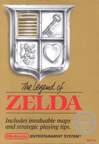 Legend of Zelda gold boxart.