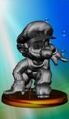 Metal Mario trophy from Super Smash Bros. Melee.