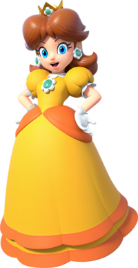 Daisy as she appears in Mario Kart Tour.