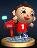 Animal Crossing Boy trophy from Super Smash Bros. Brawl.
