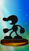 Mr. Game & Watch trophy from Super Smash Bros. Melee.