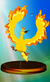 Moltres trophy from Super Smash Bros. Melee.