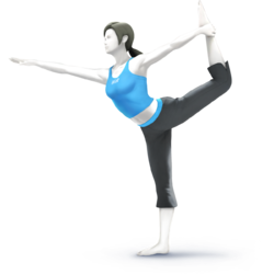 Wii Fit Trainer as she appears in Super Smash Bros. 4.
