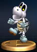 Dry Bones trophy from Super Smash Bros. Brawl.