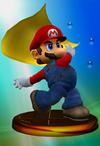Mario trophy from Super Smash Bros. Melee.