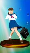 Ayumi Tachibana trophy from Super Smash Bros. Melee.