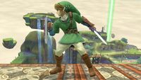 Link's first idle pose in Super Smash Bros. for Wii U.