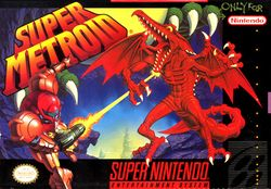 North American box art for Super Metroid.