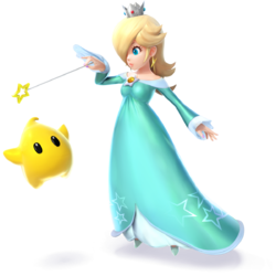 Rosalina as she appears in Super Smash Bros. 4, from the character page.