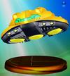 Samus' Starship trophy from Super Smash Bros. Melee.