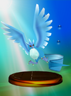 Articuno trophy from Super Smash Bros. Melee.
