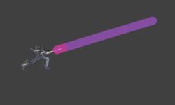 Hitbox visualization for Bayonetta's upwards forward smash bullet arts