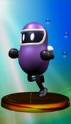 Eggplant Man trophy from Super Smash Bros. Melee.