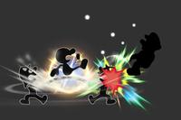Trampoline Launch in Super Smash Bros. for Wii U.
