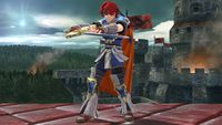 Roy's second idle pose in Super Smash Bros. for Wii U.