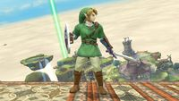 Link's second idle pose in Super Smash Bros. for Wii U.
