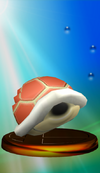 Red Shell trophy from Super Smash Bros. Melee.