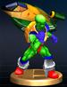 Pico trophy from Super Smash Bros. Brawl.