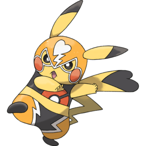 Official art of Pikachu Libre from Omega Ruby and Alpha Saphire