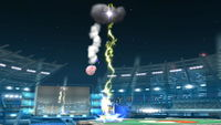 SSB4 Pikachu Down Special Meteor.JPG