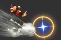 Back Flip in Super Smash Bros. for Wii U.