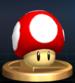 Super Mushroom trophy from Super Smash Bros. Brawl.