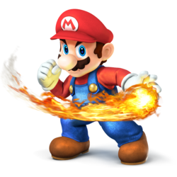 Mario as he appears in Super Smash Bros. 4.