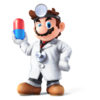Dr. Mario's artwork in Smash 4.