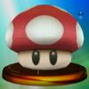 Poison Mushroom trophy from Super Smash Bros. Melee.
