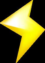 Lightning as seen in Mario Kart 8 and Mario Kart 8 Deluxe