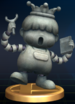 Porky Statue trophy from Super Smash Bros. Brawl.