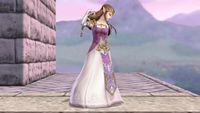 Zelda's first idle pose in Super Smash Bros. for Wii U.