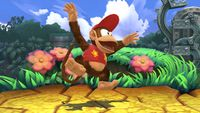 Diddy Kong's second idle pose in Super Smash Bros. for Wii U.