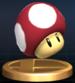 Poison Mushroom trophy from Super Smash Bros. Brawl.
