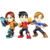 Mii Fighters as they appear in Super Smash Bros. 4.