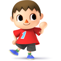 Villager as he appears in Super Smash Bros. 4.