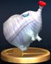 Fiery Blowhog trophy from Super Smash Bros. Brawl.