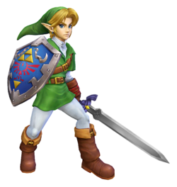Artistic rendering of Link's alternate costume in Project M, resembling his appearance in Melee.