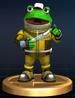 Slippy Toad trophy from Super Smash Bros. Brawl.