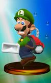 Vacuum Luigi trophy from Super Smash Bros. Melee.