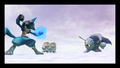 Lucario Meta Knight Standoff Subspace Emissary.png
