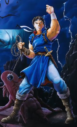 Artwork of Richter Belmont from Castlevania: Rondo of Blood.