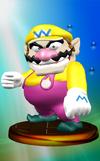 Wario trophy from Super Smash Bros. Melee.