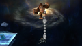 Donkey Kong Down Aerial Meteor Smash Brawl.png