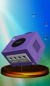 Nintendo GameCube trophy from Super Smash Bros. Melee.